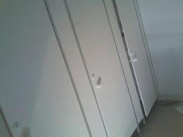 Заказ сантехнических перегородок, объект 3213