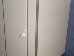 Заказ сантехнических перегородок, объект 3030