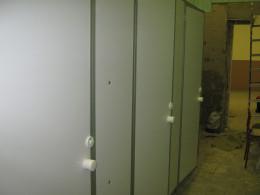 Заказ сантехнических перегородок, объект 2050