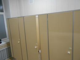 Заказ сантехнических перегородок, объект 3021
